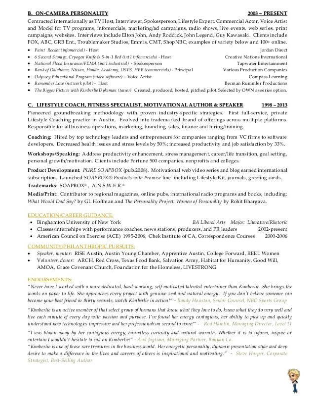 tv production host resume template free