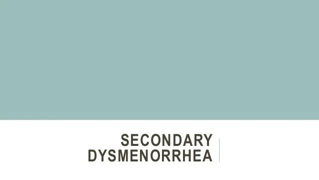 clinical approach to patients with dysmenorrhea