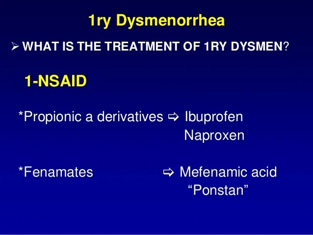 Dysmenorrhea and dyspareunia for 4th year med.students