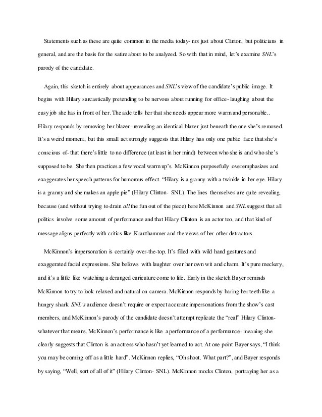 Example Of Satire Essay Good Examples Of Satire Essays Good Examples