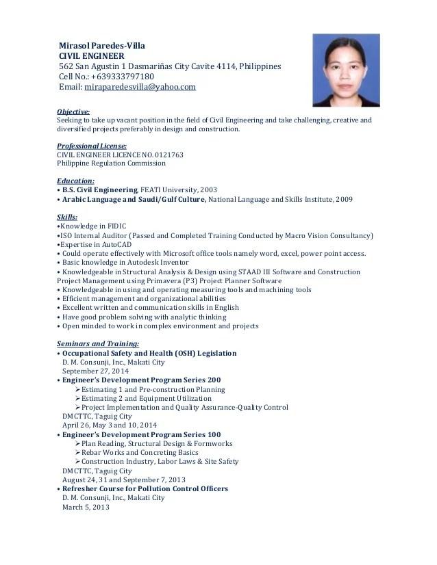 Mirasol Resume 10 14 14