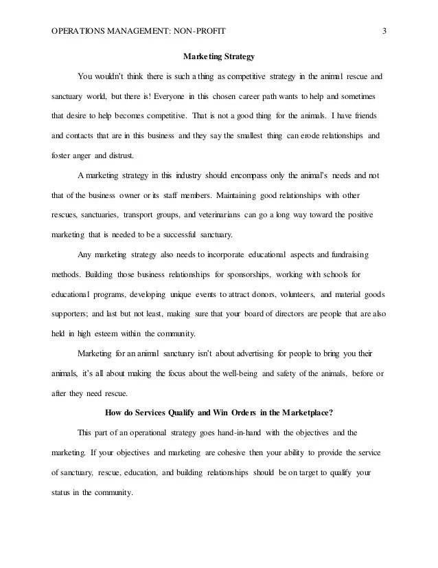 Operations Management Final Research Paper