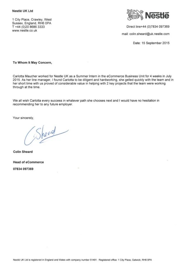 how to use a letter of recommendation