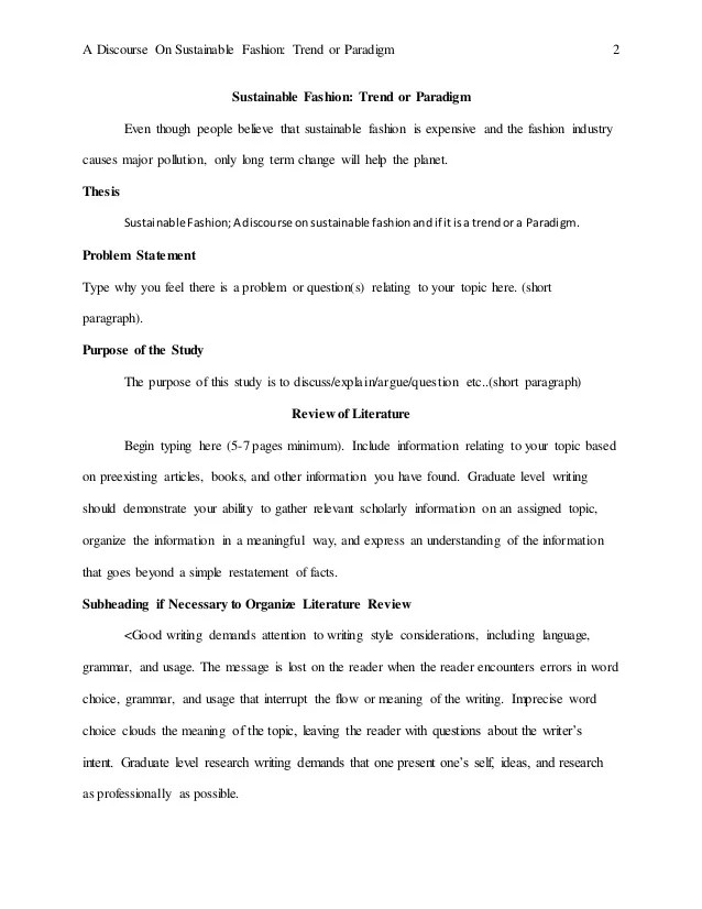 Mini Thesis Template APA Example 6th Edition AIPX 1
