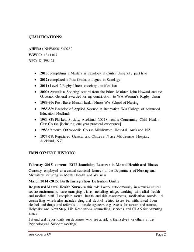 curtin university resume template