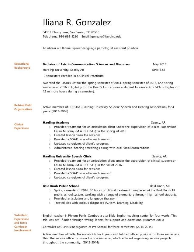 SLPA Resume