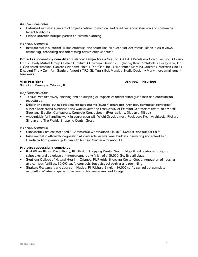 Robert Faulk Resume 2011
