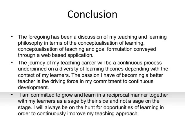 Teaching Philosophy Statement Examples History | Resume