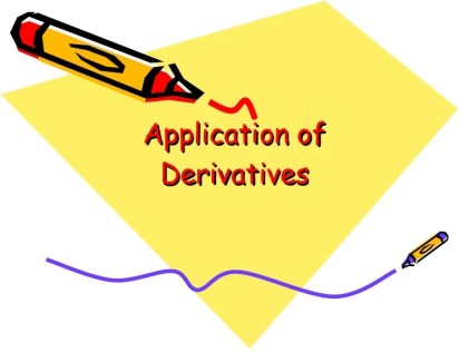 Image result for application of derivatives