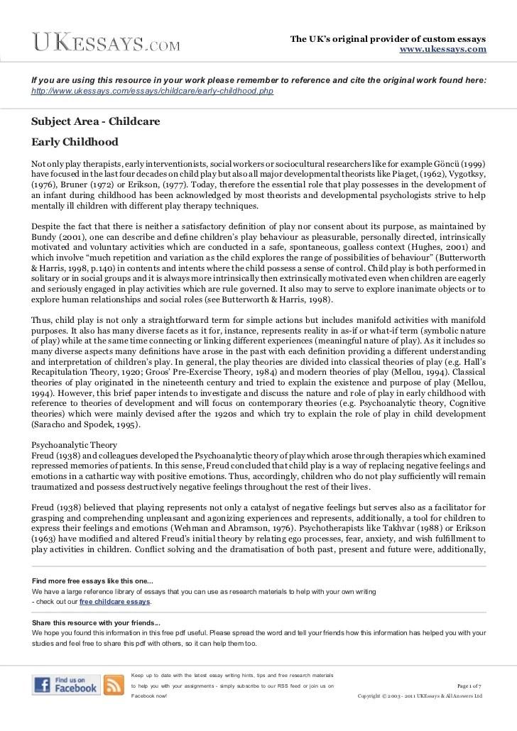 Earliest Memories Of Childhood Essay Term Paper Service