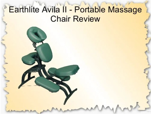 EarthLite Avila II Portable Massage Chair