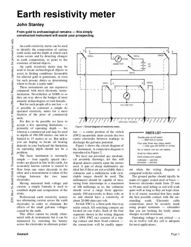 2005 Wr450f Wiring Diagram Earth Resistivity Meter Part 2 John M Stanley