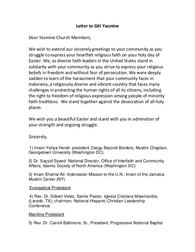 Easter Letter 2013 For Yasmine Church Members