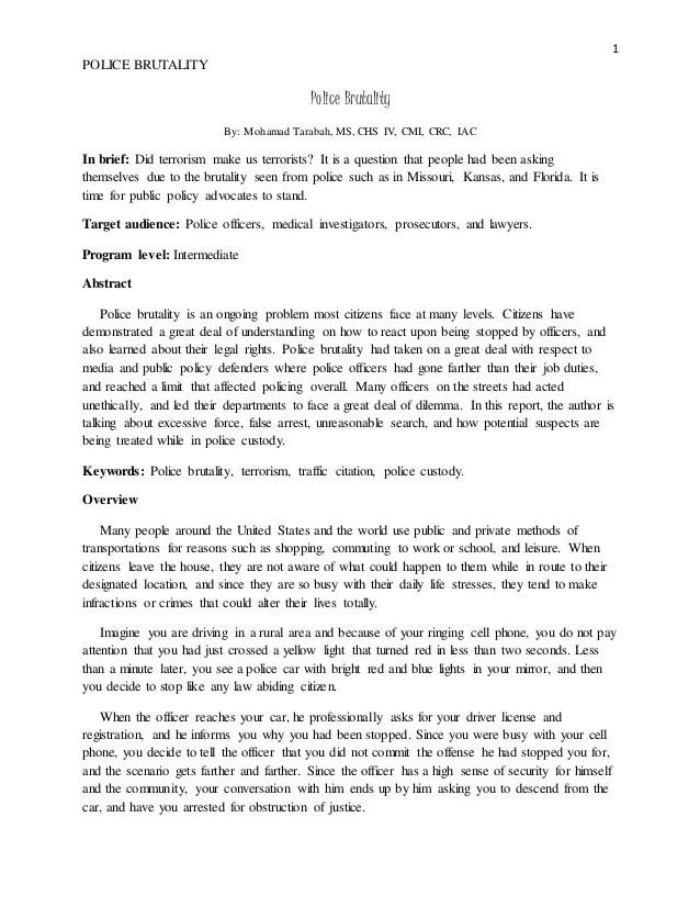 Essay On Police Corruption Hospi Noiseworks Co