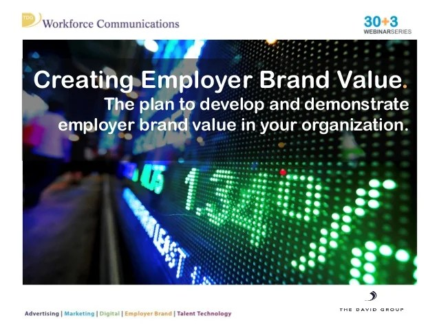Creating Employer Brand Value