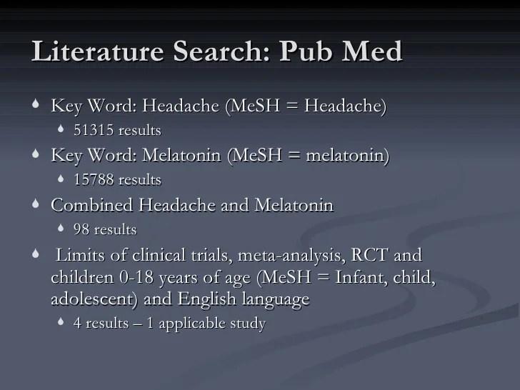 The role of melatonin in pediatric headaches