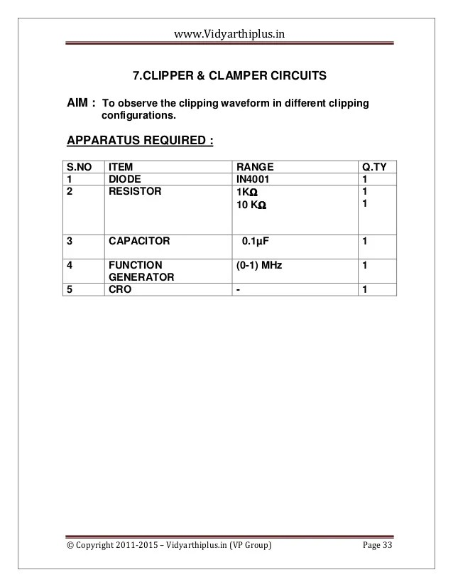 circuit diagram of clipper and clamper 220 volt wiring outlet ec 2-simulation-lab