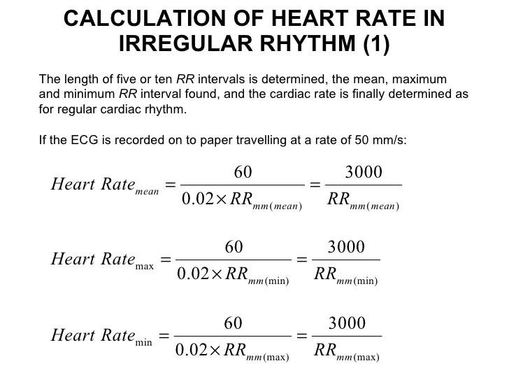 Formula Calculate Heart Rate Ecg