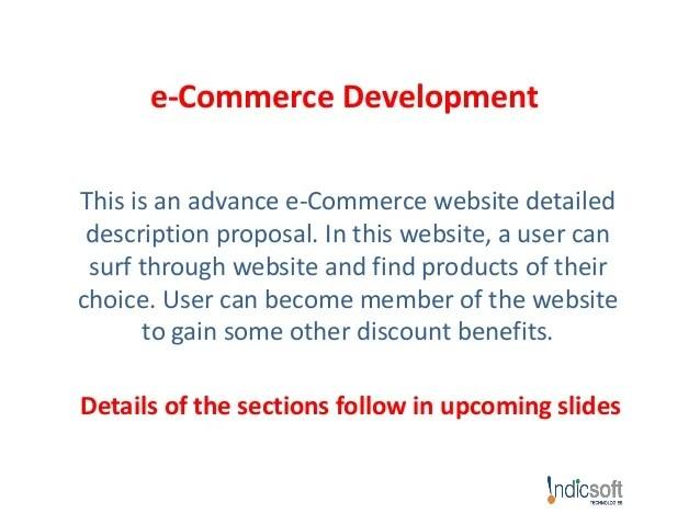 eCommerce Website Development Proposal