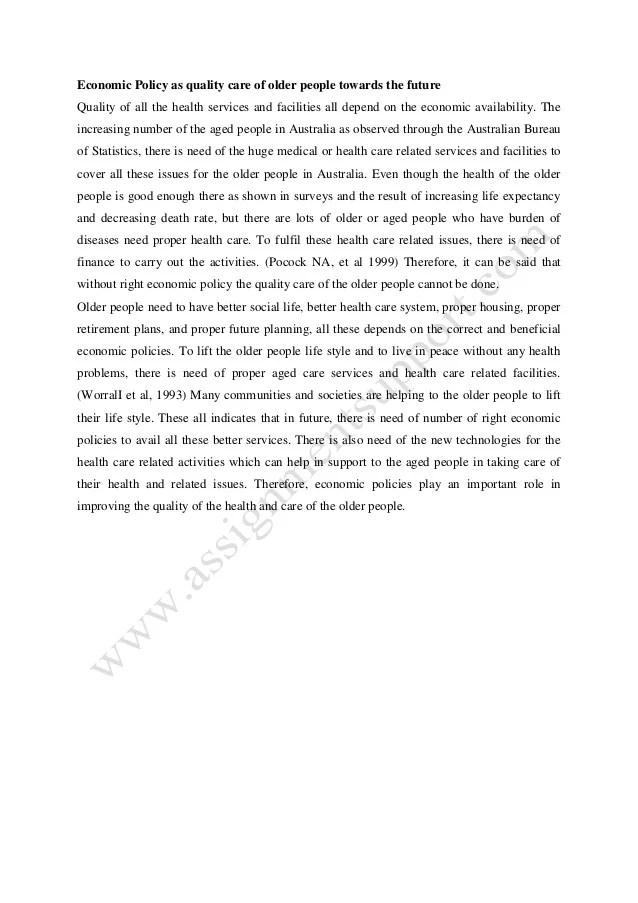 Health Issues Essay Economic Policy Essay Sample From
