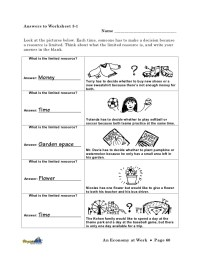 Printables. Opportunity Cost Worksheet. Messygracebook