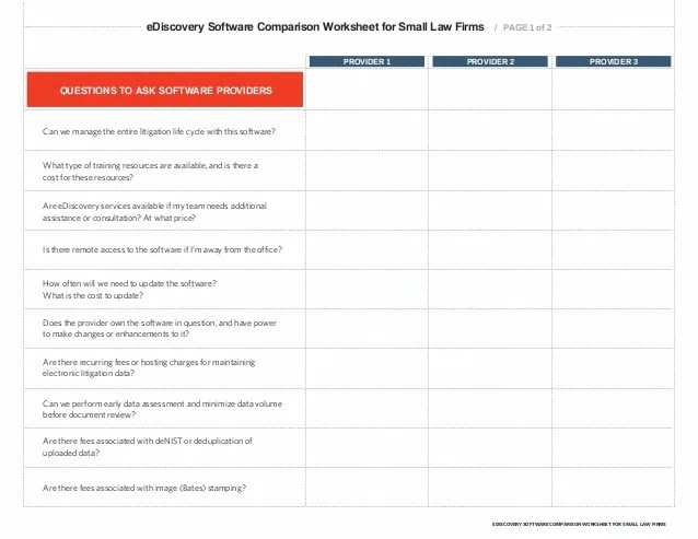 Ediscovery software comparison also for small law firms  buyer   guide rh slideshare