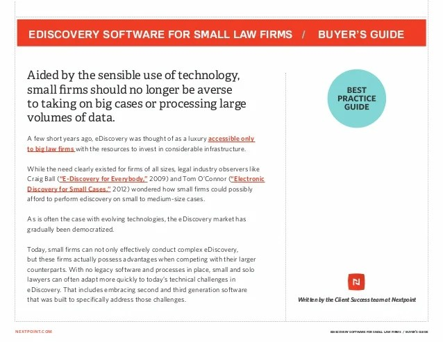 also ediscovery software for small law firms  buyer   guide rh slideshare