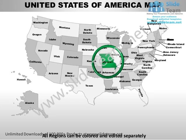 Editable vector business usa missouri state and county