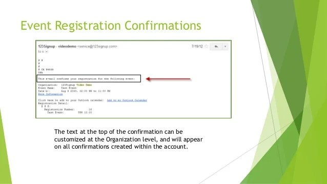 123Signup Editing email confirmations ver01