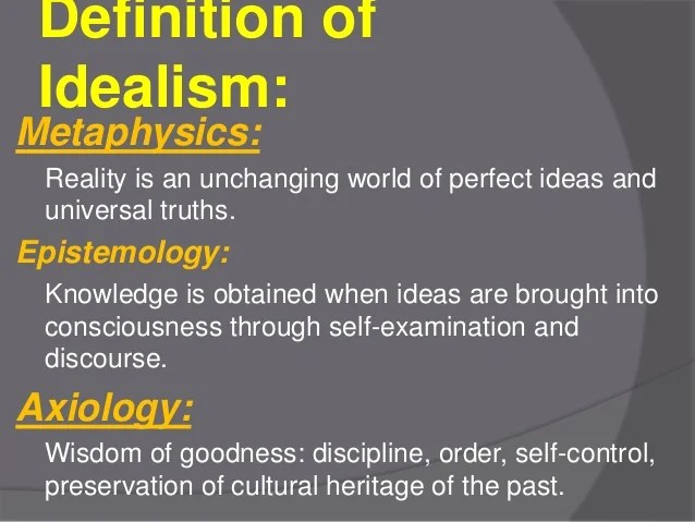 Educational perspective of idealism by anwarullah