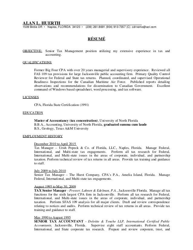 kpmg international tax resume sample