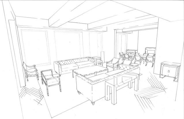 Living Room Line Drawing