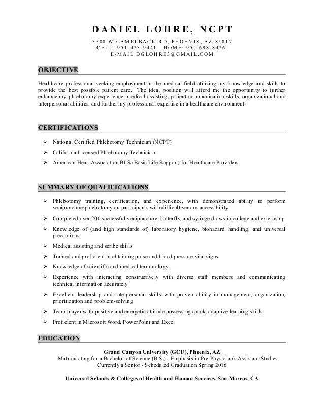 medical scribe resume templates