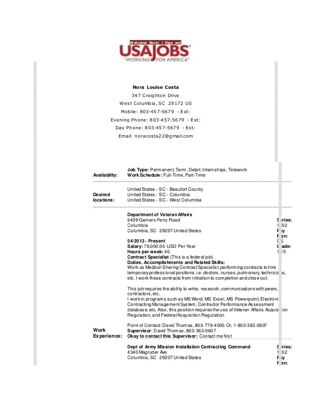 Usa Jobs Resume Format