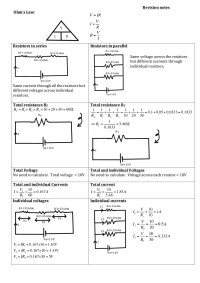 resistors in series and parallel circuits worksheet