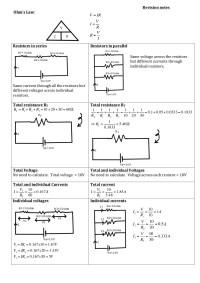 resistors in series and parallel circuits worksheet - 28 ...