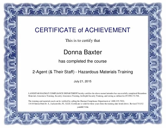 Hazmat Materials Training Certificate_of_CompletionLandstar