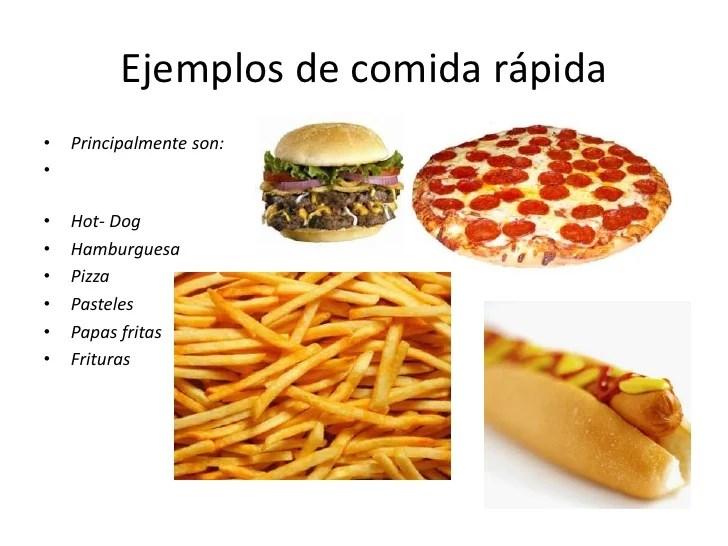 Efectos comida rapida