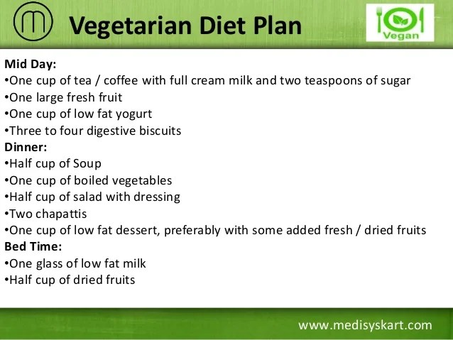 Vegetarian diet plan also effective to gain weight rh slideshare