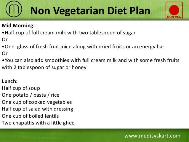 Non vegetarian diet plan also effective to gain weight rh slideshare