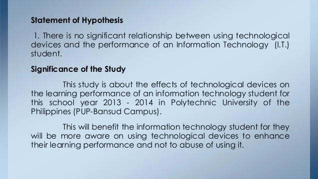 Effects Of Technological Device To Students