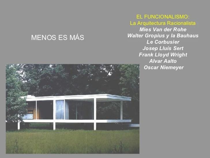 El Funcionalismo De Le Corbusier A Oscar Niemeyer