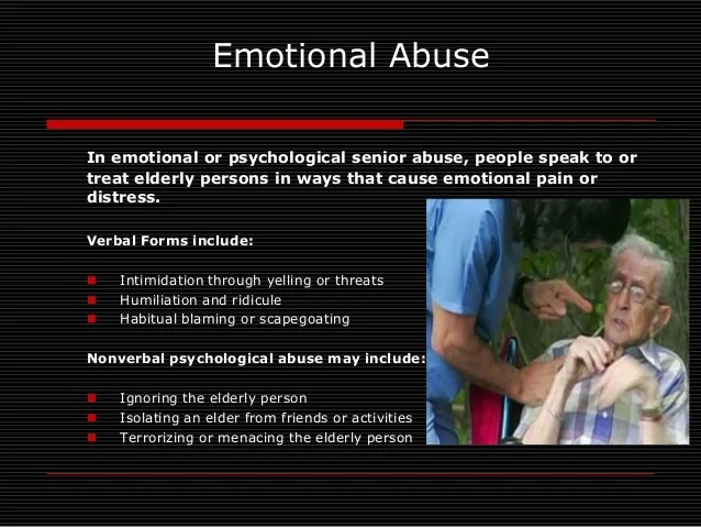 Eldery abuse 2014