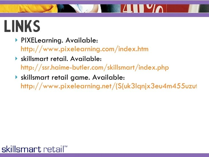 Evaluation Of The Skillsmart Retail Game