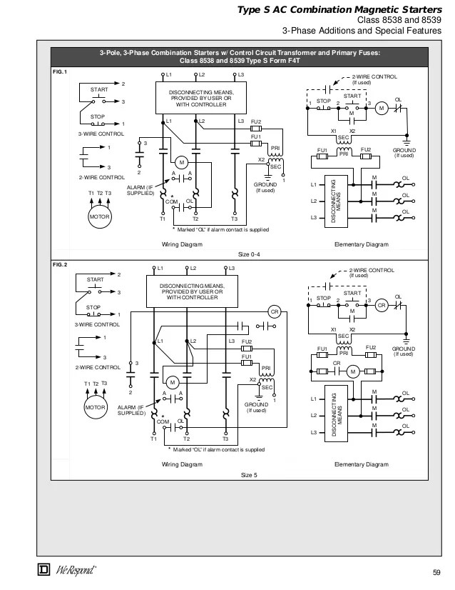 Combination Starter Wiring Diagram - Roslonek.net
