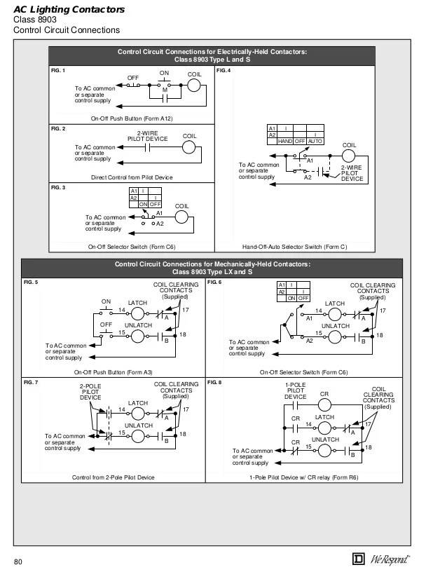 Square D Lighting Contactor Wiring Diagram 8903 Electrical