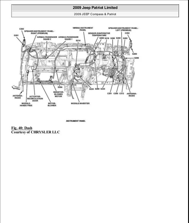 jeep compass 2009 wiring diagram