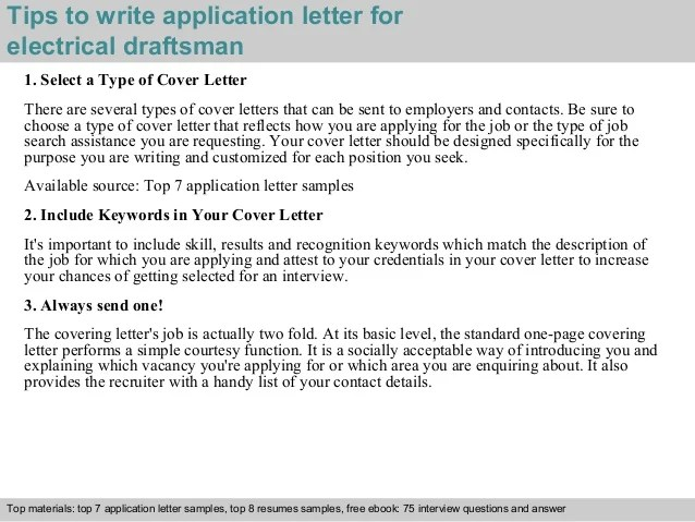 Cover Letter Draftsman Examples | Invsite.co