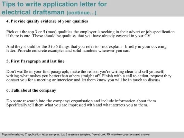 Draftsman Cover Letter Sample | Lettercard.co