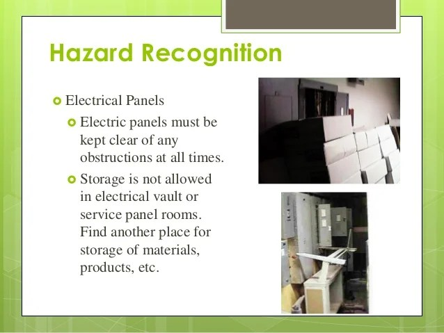 electrical panel hazards 120v lighting contactor wiring diagram safety training hazard recognition panels